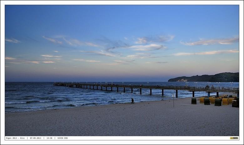 Seebrücke Binz - Lucht, wolken, zacht, licht en helder licht, zand en zee..... goede ingrediënten voor een mooie foto