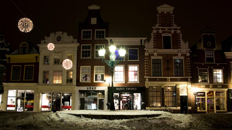 alkmaar in de winter - gemaakt in de binnenstad van alkmaar.