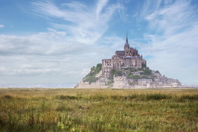 Le Mont Saint Michel - ik weet niet zo goed waar ik hem het beste plaats, het is een fantastisch bouwwerk, dus zou je zeggen architectuur, maar deze i