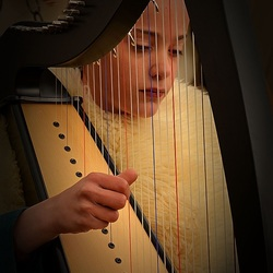 Girl with the harp.
