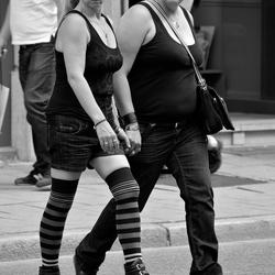 Lesbian couple.