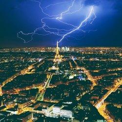 Eiffeltoren bliksem