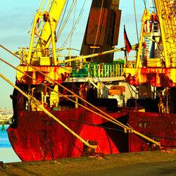Bremerhaven vanaf de Kade.( Roest )