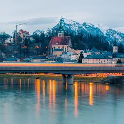 Salzburg in de ochtend