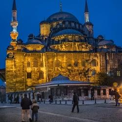 moskee in de nacht  Istanboel