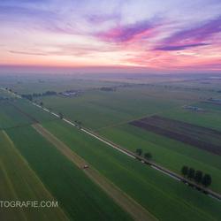 Zonsondergang met drone.