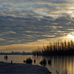 winterse zonsopkomst.