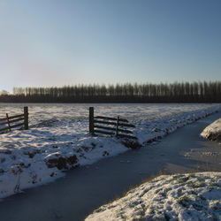 Sneeuw in de Purmer