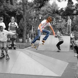 Opening van de nieuwe skatebaan