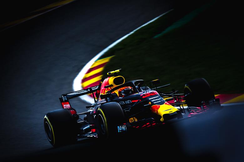 max verstappen tijdens de gp van Belgie op spa francorchamps sport F1 - max verstappen in pouhon tijdens de 2e vrije training tijdens de grand prix va