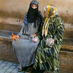 Verkoopsters in Marrakesh