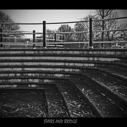 trap en brug