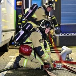 brandweervrouw in actie!