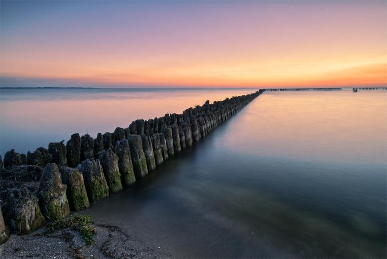 Sunset Hindeloopen - Zonsondergang over het IJselmeer bij Hindeloopen