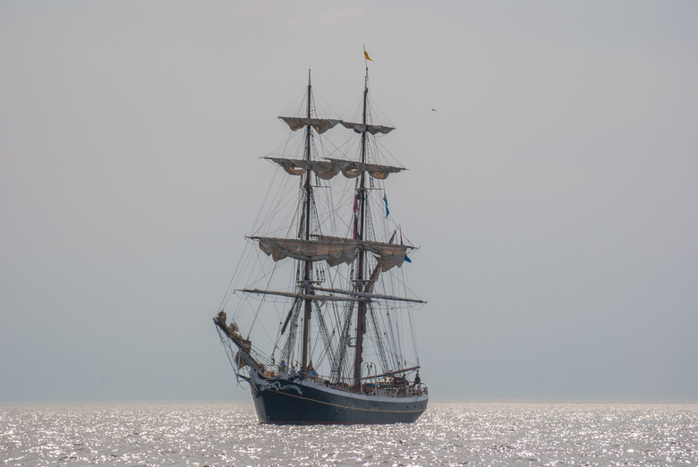 De Morgenster - Tijdens de Sail Out Parade van de Sail op Scheveningen in juni 2019, kon ik dit plaatje schieten vanaf het water tegen het zonlicht in