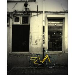 Yellow bike...