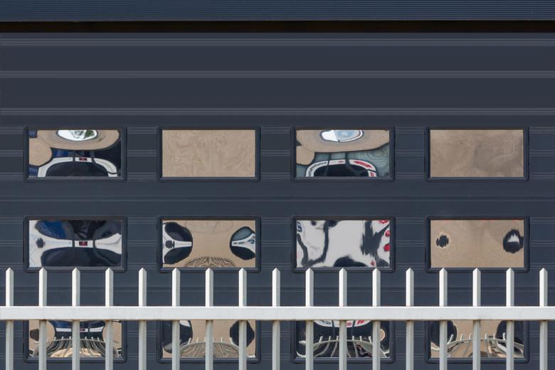 Window Reflection - Industrial abstract/reflection windows.<br /> Fijne zondag<br /> <br /> Groetjes<br /> Jan