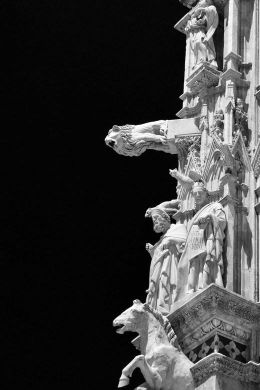 kunstig - een stukje van de kathedraal van Siena. Vond het erg moeilijk er een uitsnede van te maken. Is dat wel zo interessant. Een erg kunstig stukj