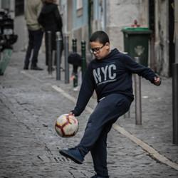 Voetballer in Lissabon