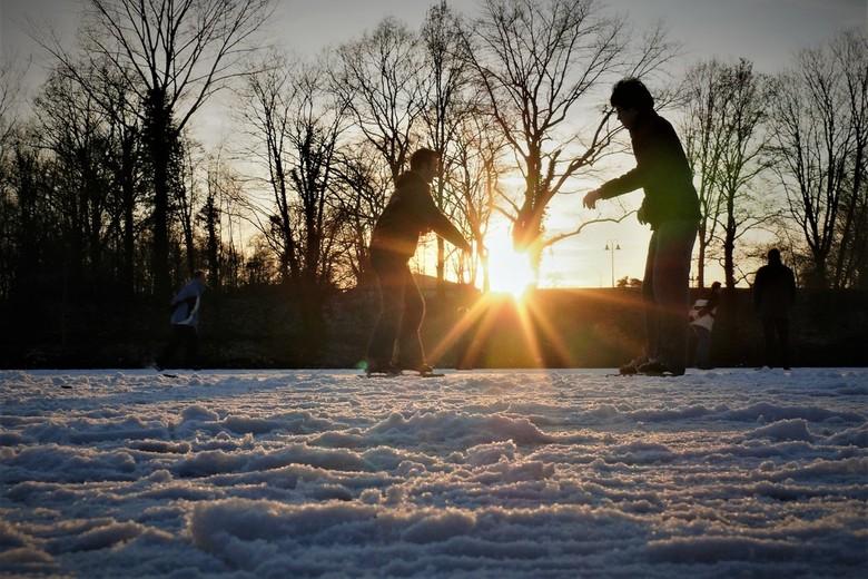 schaatsen op de fortgracht -