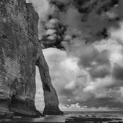 Elephant's trunck rock (The Neadle) - Cliffs of Etretat Normandy France.