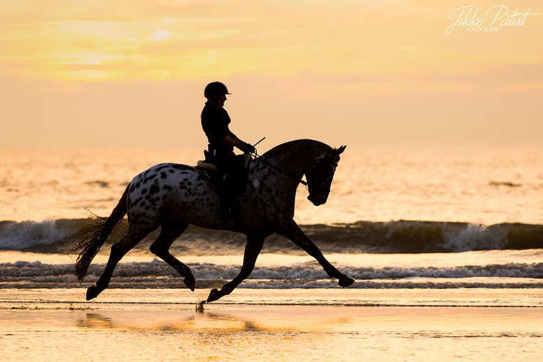 To be a team you need to become one... - Een heerlijk team dat met volle teugen geniet van hun moment samen op het strand tijdens zonsondergang: LOVE
