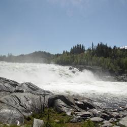 waterval bij lakforsen