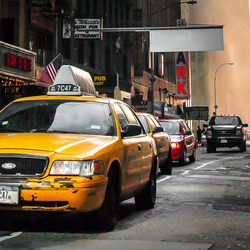 Cab in the early morning
