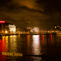 Magere Brug Amsterdam by night