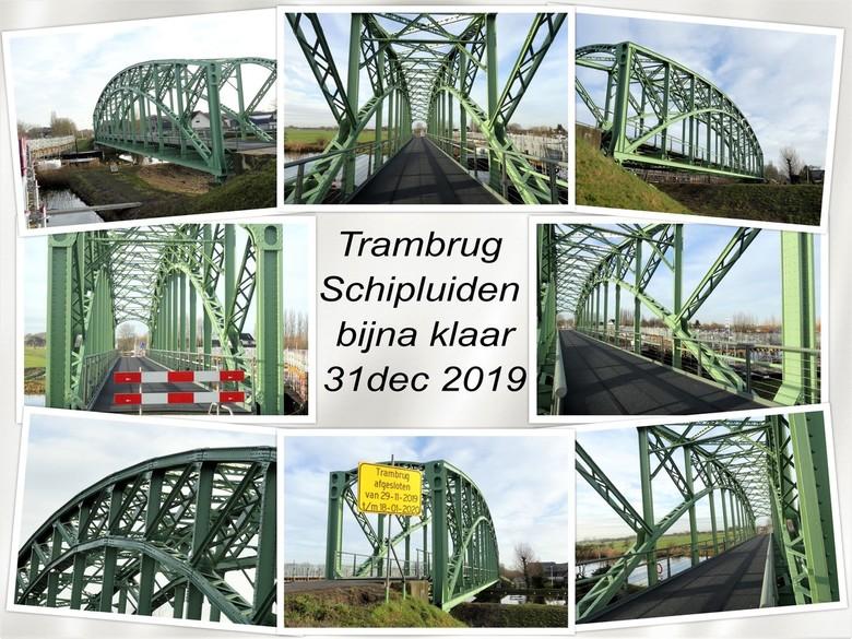 collage  trambrug Schipluiden bijna klaar 31 dec 2019  - Hallo Zoomers , GROOT kijken en even lezen . Op 31 dec 2019 was ik benieuwd of deze oude WSM