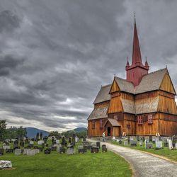 Staafkerk van Ringebu, Gudbrandsdal - Noorwegen.