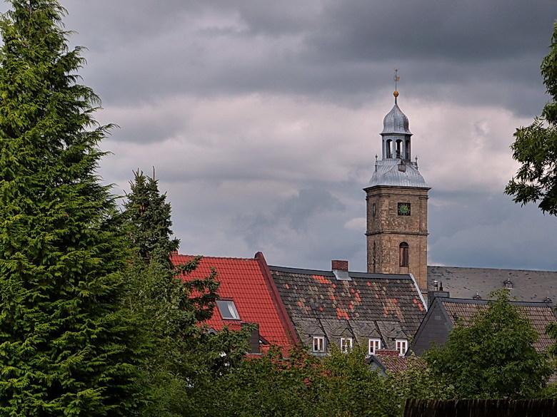 St Stefanuskerk Goslar. - St, Stefanuskerk na  een stadsbrand heropgebouwd als barokke hallenkerk.<br /> De  middeleeuwse st stafanus parochie omvatt