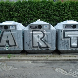 Recycling became art...