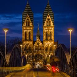 Symmetrie in de stad - Freiburg im Breisgau