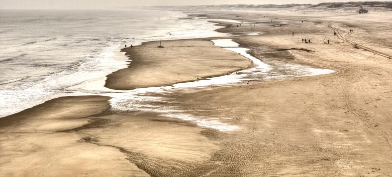 Noordzeestrand - Het strand in Scheveningen vanaf de pier.