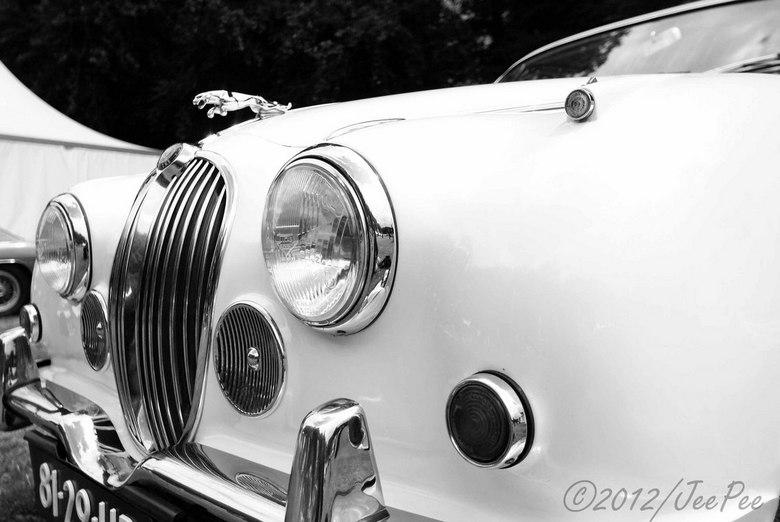 Jaguar MK II - Jaguar MK II in zwart-wit
