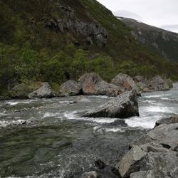 Stroomversnellingen in nationaal park Dovrefjell