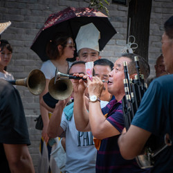 Straatmuzikanten in Pingyao, China
