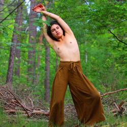 danseres in het bos