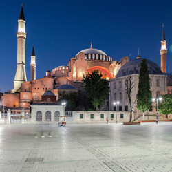 Haghia Sofia mosque night view