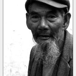 Bewerking: China - Man op markt