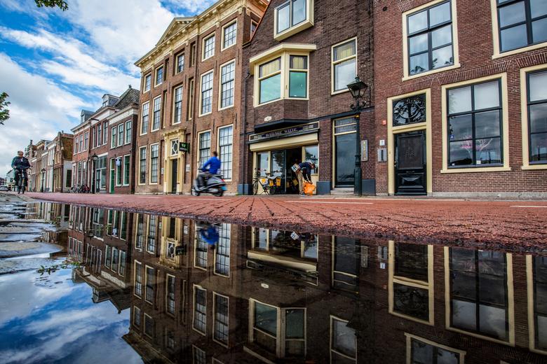 Bierkade spiegeling - De Bierkade in Alkmaar. Op pad gegaan na een flinke regenbui.