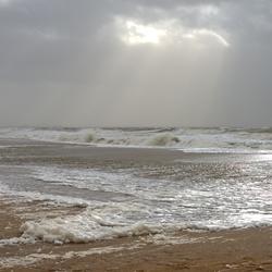 Storm langs de kust
