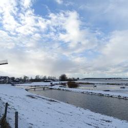 Winter langs het Spui