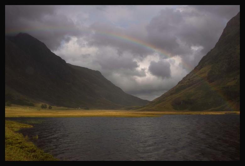 de schotse highlands - glencoe valley, juist na een onweer...nat maar indrukwekkend