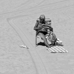 Plaats genoeg op het strand