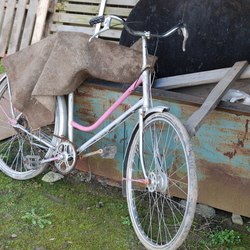 Oude fiets.