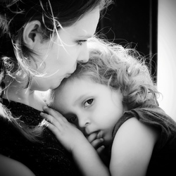 Love between mother and daughter