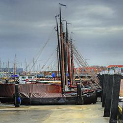 zeilbootjes in de haven van Urk