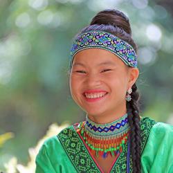 Altijd vriendelijk Sapa girl Vietnam